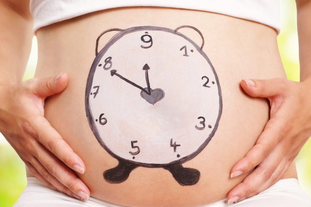 Bauch Baby Schwangerschaft Uhr
